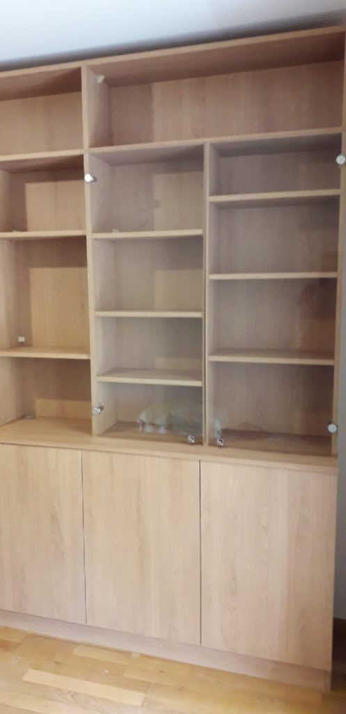 Bibliotheque sur Mesure Bois et verre 2